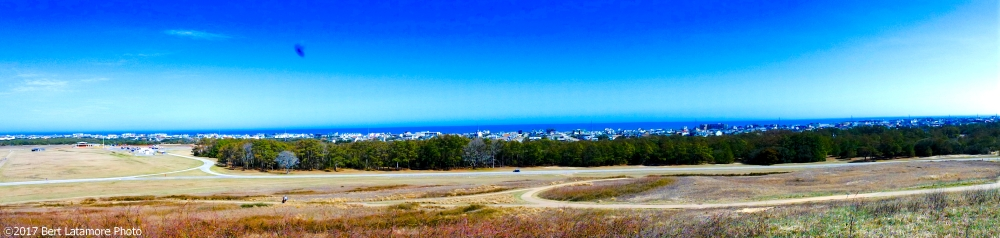 022517 Panorama looking East from Big Kill Devil Hill, Wright Bros Memorial